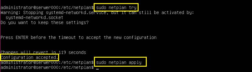 Konfiguracja interfejsów sieciowych