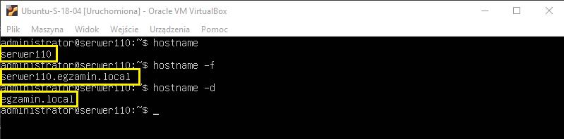 Zmiana nazwy serwera