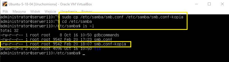 Konfiguracja SAMBY