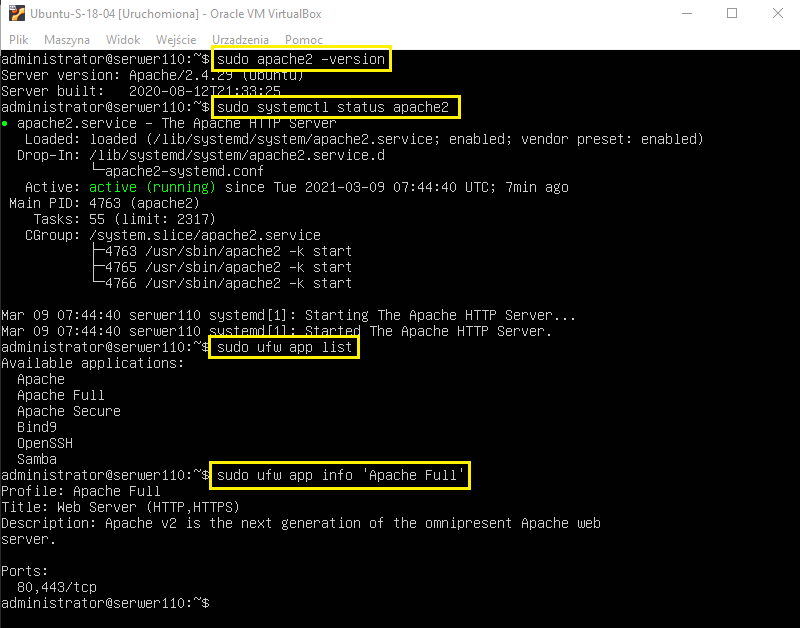 Instalacja serwera www