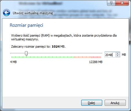 Określamy ilość RAM-u