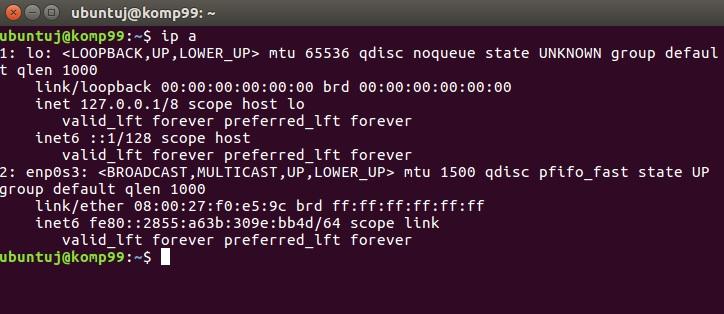 Konfiguracja sieci na Ubuntu Desktop
