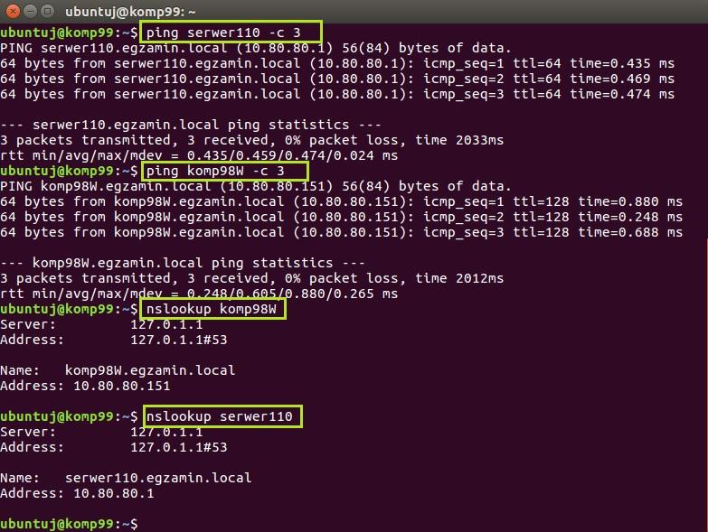 Testowanie serwera DNS