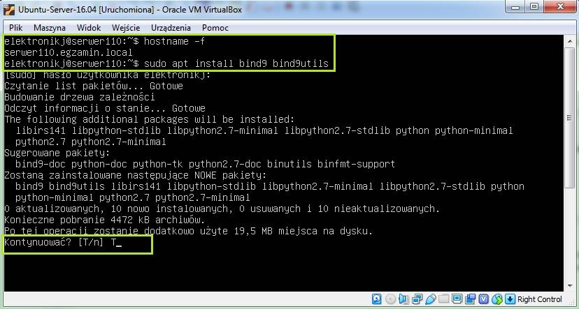Instalacja serwera DNS