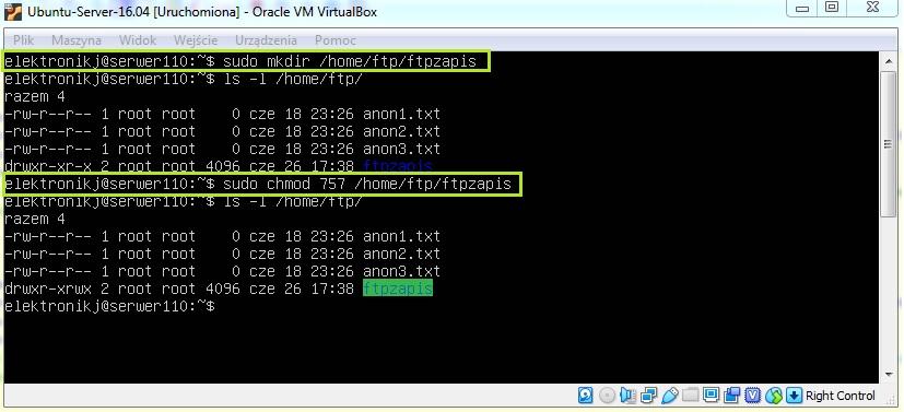 Konfiguracja serwera FTP
